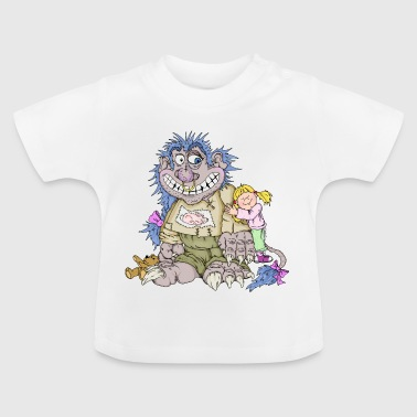 Monster, girl, love - Camiseta bebé