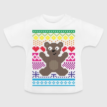 Knitting Design Teddy Baby - Baby T-Shirt