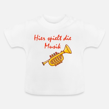 Kinder Musik Motive Hier spielt die Musik - Design for Kids - Baby T-Shirt