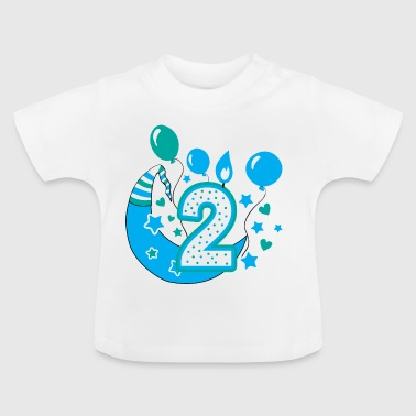 Second birthday boy, 2nd birthday gift - Baby T-Shirt