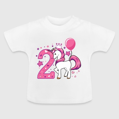 second birthday girl, 2nd birthday gift - Baby T-Shirt
