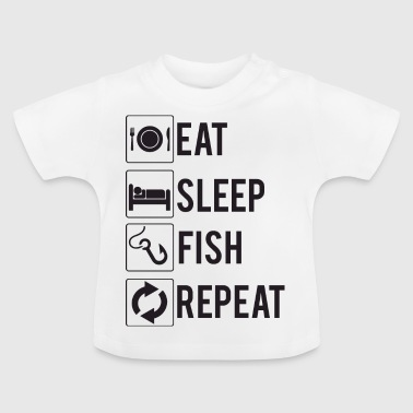 Angeln / Angler: Eat, Sleep, Fish, Repeat - Baby T-Shirt