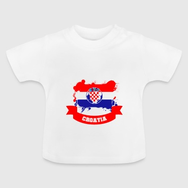 Football Croatie Fan Fan Fanshirt - T-shirt Bébé
