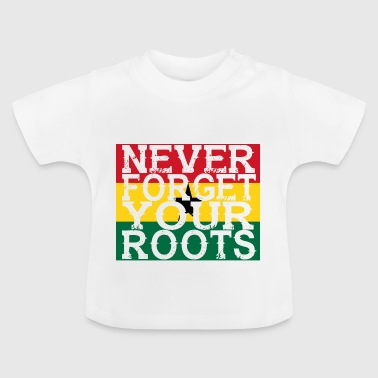 never forget roots home Ghana - Baby T-Shirt