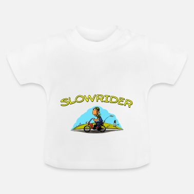 Motorcykel Slowrider moped Ström Comicstyle - Baby-T-shirt