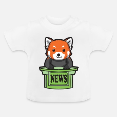 Presenteren Red Panda News Presenter - Baby T-shirt