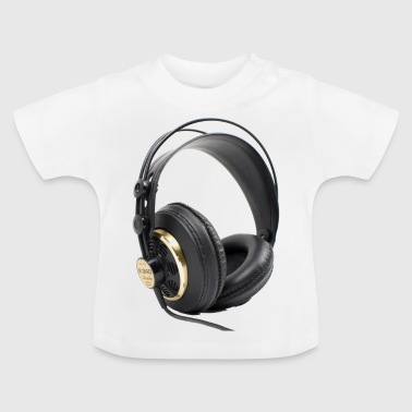 t-shirt with headphone music dj - Baby T-Shirt