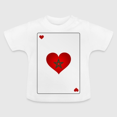 Card Heart Ass Morocco Morocco المغرب Maroc - Baby T-Shirt