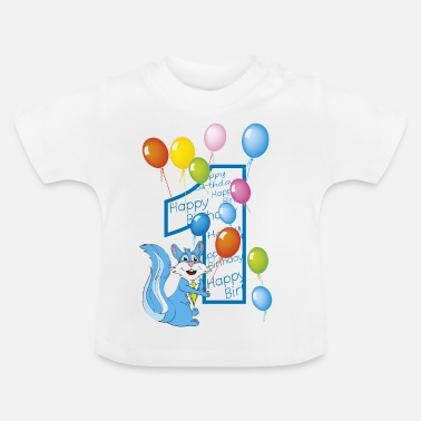 First first squirrel number 1 birthday - Baby T-Shirt