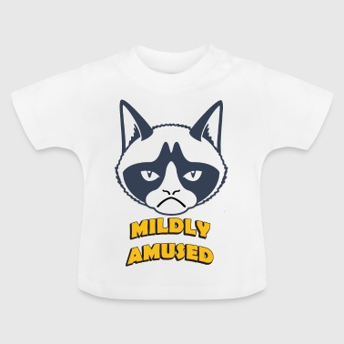 grumpy cat mildly amused coloful - Baby T-Shirt