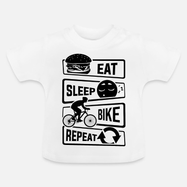 Bicicletta Eat Sleep Bike Repeat - bicicletta da corsa in bicicletta - Maglietta neonato