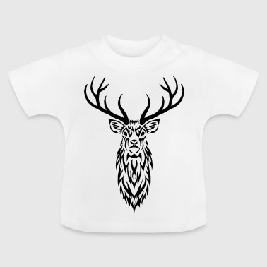 Stag Portrait - Baby T-Shirt