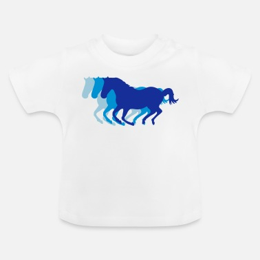 Galop Drie paarden in galop - Baby T-shirt