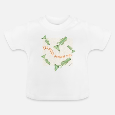 Ärter kidscontest Little gröna fiskar - Baby-T-shirt