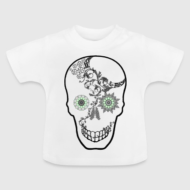 Skull with flowers - Baby T-Shirt
