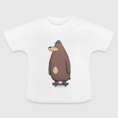 Skateboard bear - T-shirt Bébé