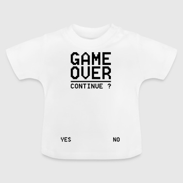 Syd GAME OVER Fortsæt syd - Baby T-shirt