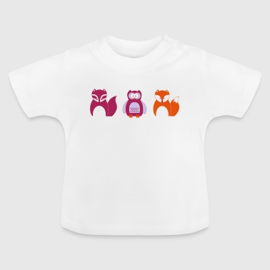 Design for Toddlers | Faune dans Portrait - T-shirt Bébé