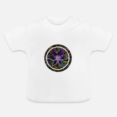 Neon Flower in circle neon black - Baby T-Shirt