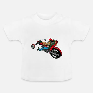 Chopper Biker op chopper - Baby T-shirt