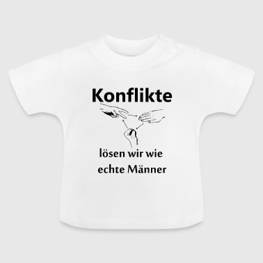 Solve conflicts with scissors stone paper Geschek - Baby T-Shirt