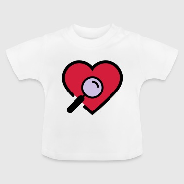 Heart examination magnifying glass - Baby T-Shirt