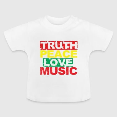 Love Peace Truth Music peace love truth - Baby T-Shirt
