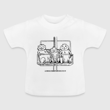 Beaver in the ski lift - Baby T-Shirt