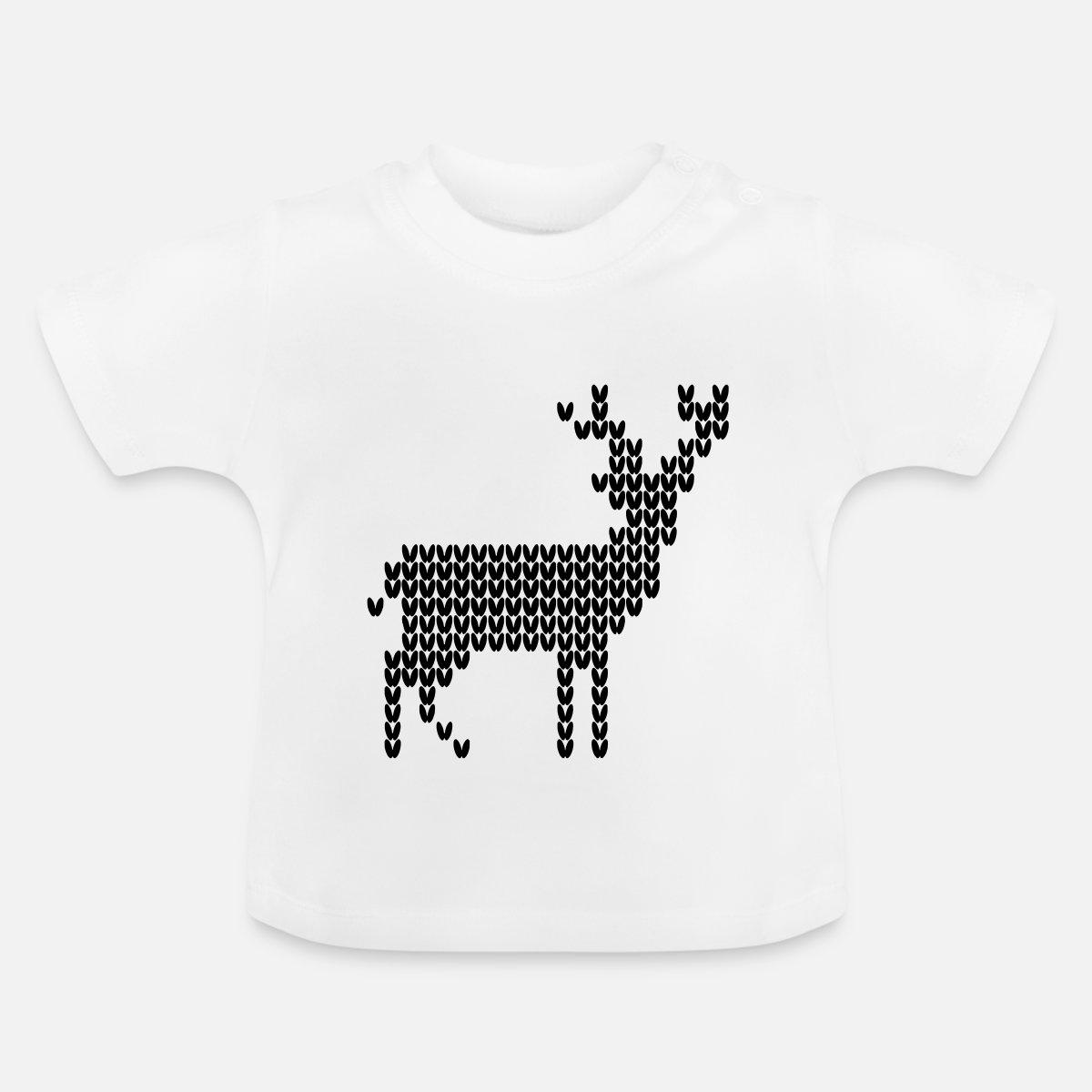 Modelo que hace punto reno de los ciervos fea tejer Navidad Camiseta ...