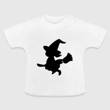 Witch på kost - Baby T-shirt