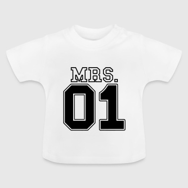 MRS. 01 Mr & Mrs Paar JGA Partnerlook Teil 2 Paar - Baby T-Shirt