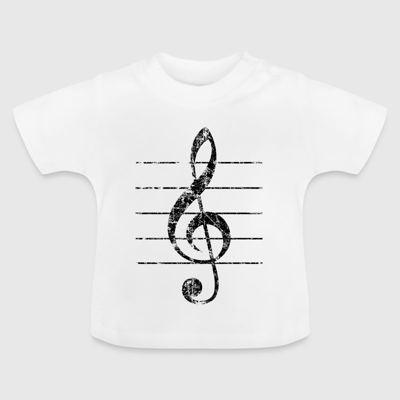 Violin key, musical key - Baby T-Shirt