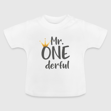 Babysuit Kinder T-Shirt Mr. ONEderful Geschenk - Baby T-Shirt