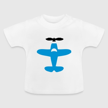 Cartoon Aeroplane - Baby T-Shirt