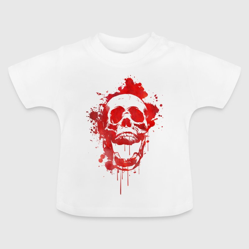 Blood splatter skull / Death Skull - Baby T-Shirt