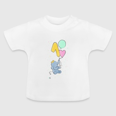 First birthday elephant baby - Baby T-Shirt