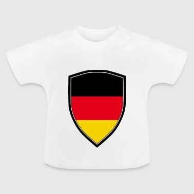 GERMANY FLAG SHIELD - Baby T-Shirt