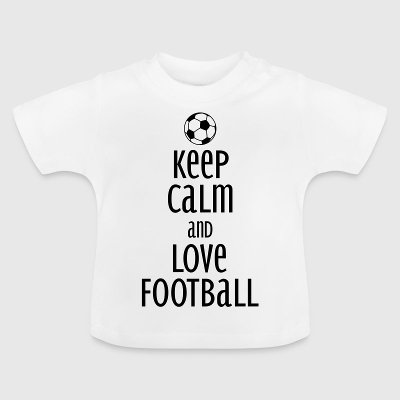 keep calm and love football - Baby-T-skjorte