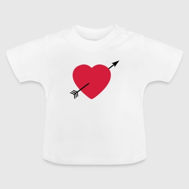Heart round with arrow - Baby-T-skjorte