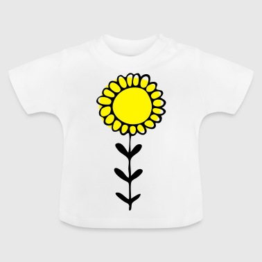 Sonnenblume Illustration - Baby T-Shirt