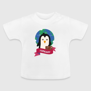 Penguin Globetrotter from Hungary - Baby T-Shirt