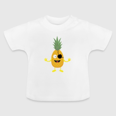 Pineapple Pirate with eye-patch S9ozq - Baby T-Shirt