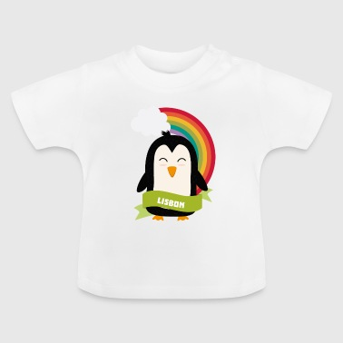 Penguin Rainbow from Lisbon Gift - Baby T-Shirt