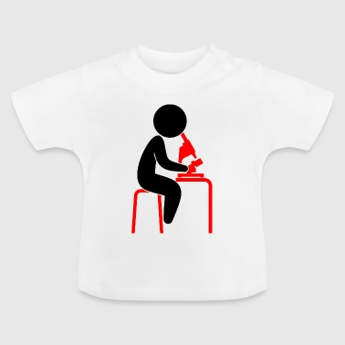 A scientist looks into his microscope - Baby T-Shirt