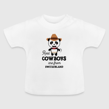 Real Cowboys are from Switzerland Slagi9 - Baby T-Shirt