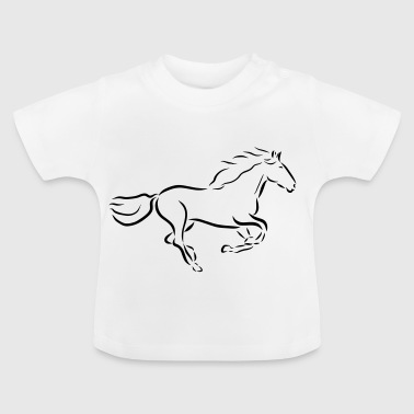 galloping horse Stallion Mare drawing - Baby T-Shirt