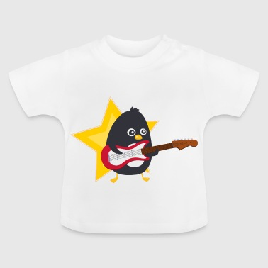 Penguin playing guitare - Baby T-Shirt
