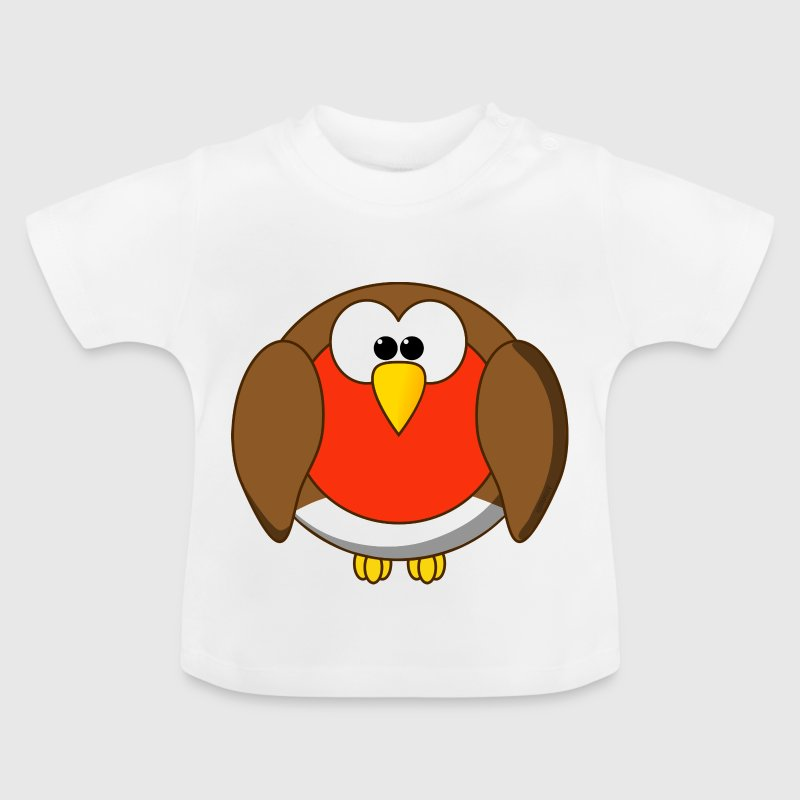 Funny Robin Redbreast Cartoon - Baby T-Shirt