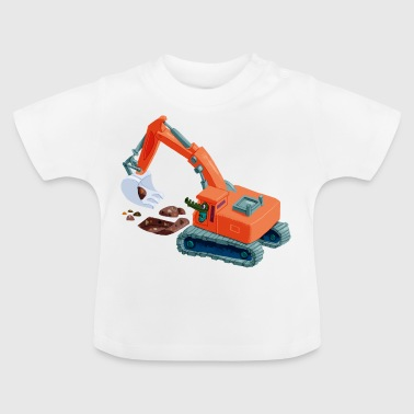 Krokodil in graafmachine - Baby T-shirt