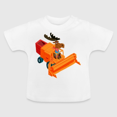 Elk in the combine harvester - Baby T-Shirt